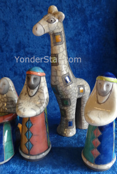 South African Raku pottery nativity