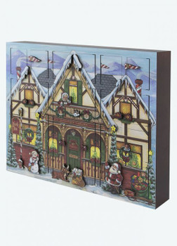 Heirloom Wooden North Pole Advent Calendar  - Byers' Choice - Pre-order