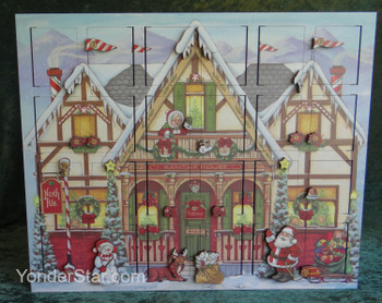 Heirloom Wooden North Pole Advent Calendar  - Byers' Choice -  Leaves Warehouse in 1 Business Day