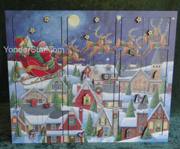 Byers' Choice Wooden Musical Advent Calendar MC07