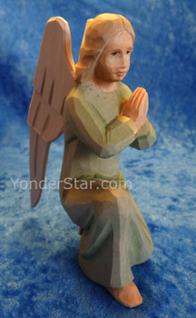 Angel Kneeling Green Gown - Huggler Nativity Switzerland