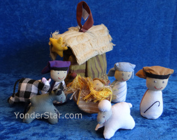Cotton Nativity Set from Sri Lanka