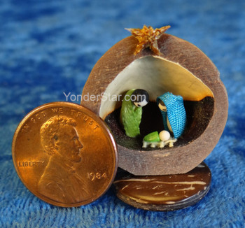 Macadamia Nut Nativity Scene from Ecuador