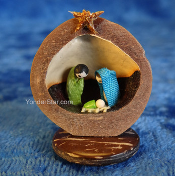 Macadamia Nut Nativity Scene from Ecuador