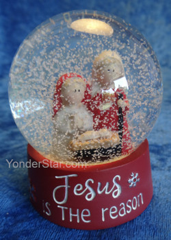 Jesus is the Reason Mini Snowglobe Nativity