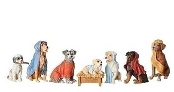 dog nativity set