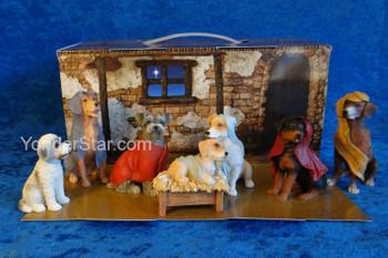 Canine Christmas Dog Nativity Set