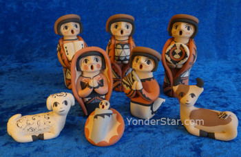 Native American Nativity Scene from Jemez Pueblo, New Mexico - Hand-made