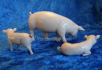 "Pig Family for 7.5"" Fontanini Nativity Scene 52800"