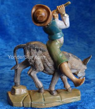 "Dominic - 5"" Fontanini Nativity Boy w Flute on Donkey 59808"