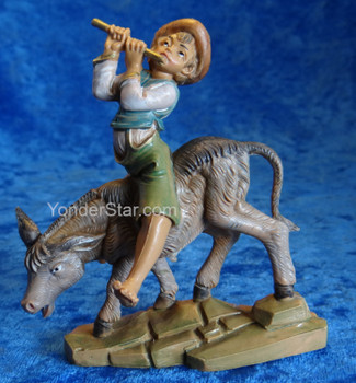 "Dominic - 5"" Fontanini Nativity Boy w Flute on Donkey 59808"
