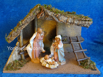 "7.5"" Fontanini Nativity Scene - 3 pc w Wooden Stable 54869"