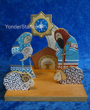 Wooden Nativity Scene from Ukraine