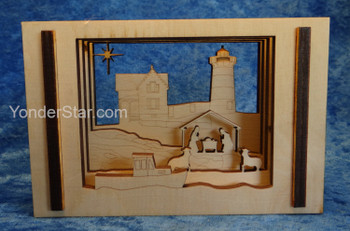 Coastal Themed Nativity Scene - 3D Hand-produced in Rhode Island