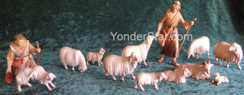 LEPI Venetian Nativity Shepherd's Flock - 16cm Scale 13 pc