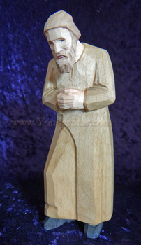 wood carved nativity Joseph