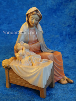 LEPI Venetian Nativity Mary Seated w Baby Jesus 16cm Scale