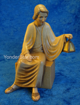LEPI Venetian Nativity Joseph Seated w Lantern 16cm Scale