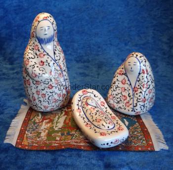 Turkish Nativity Set with Carnations