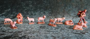 LEPI Reindl Nativity Shepherd's Flock - 9 pieces