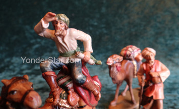 LEPI Reindl Nativity Camel Caravan Scene - 3 piece