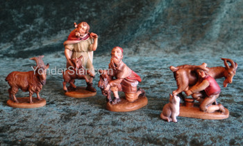 Reindl Nativity Goat Herder Scene LEPI Wooden Handcarved Nativity