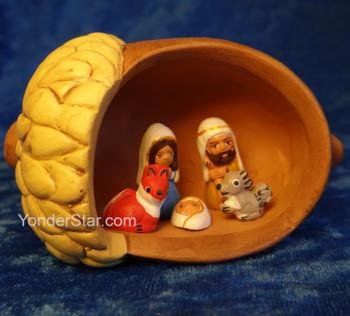 Acorn Ceramic Nativity - Fair Trade from Peru