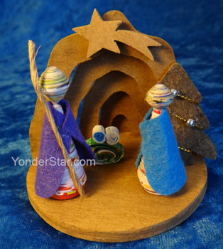 Cinnamon and Quilled Paper Nativity - Fair Trade from Vietnam
