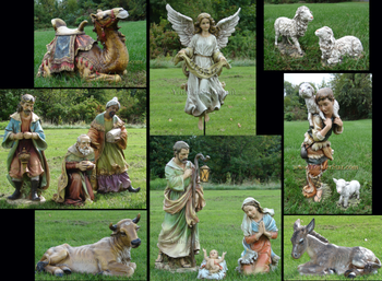 Outdoor Nativity Scene Set