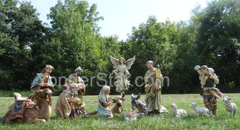 Outdoor Nativity Scene Full Color 14 pcs - Pre-order 2021