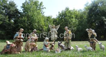 Outdoor nativity set display
