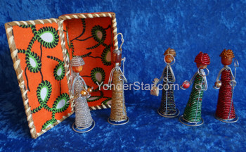 Glass Bead and Wire Nativity Scene from Kenya