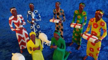 Colorful Nativity Scene Made in Zambia