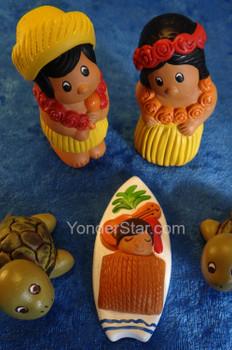 Hawaiian nativity scene