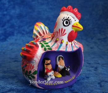Chicken nativity scene
