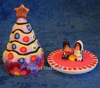 Mayan nativity Christmas tree