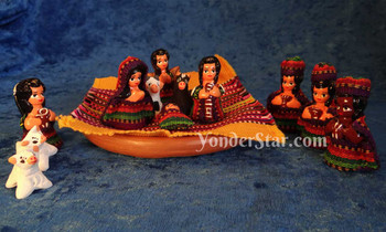 Mayan textile nativity scene