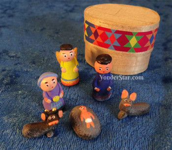 Tiny Mayan nativity scene