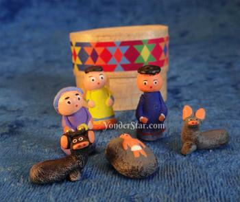 Mayan nativity scene