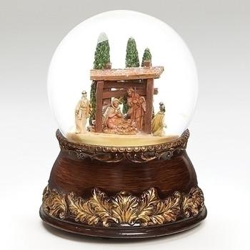 """Fontanini Glitterdome 6.75"""" Nativity Scene - 59016"""