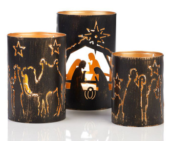 Nativity scene lanterns from India