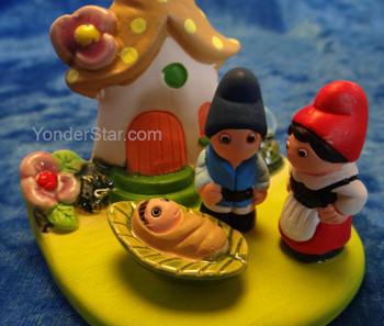 Gnome nativity set