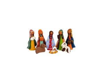 Peruvian pottery nativity scene