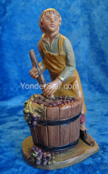 "Dionysius - 5"" Fontanini Nativity Boy Pressing Grapes 59810"