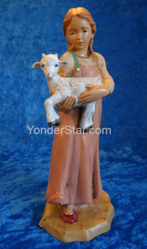"Sarah - 7.5"" Scale Fontanini Nativity Girl w Goat 52798"