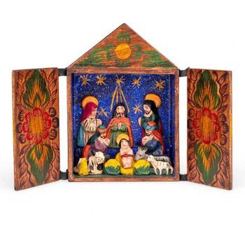 Retablo nativity scene