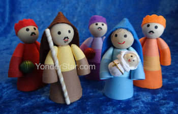 Colorful Quilled Paper Nativity Scene  from Vietnam