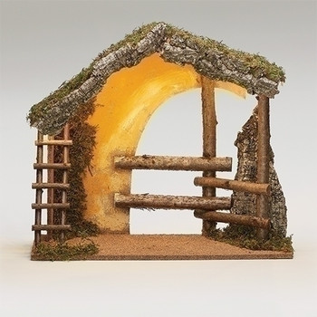 Large wooden nativity stable