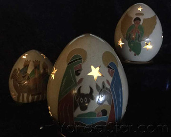 lighted nativity scenes from nicaragua