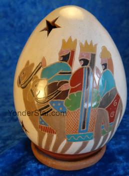 Nativity wisemen luminary from Nicaragua